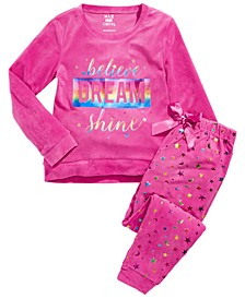 Big Girls 2-Pc. Dream Velour Pajamas Set