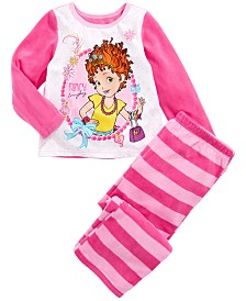 AME Toddler Girls 2-Pc. Fancy Nancy Fleece Pajamas Set