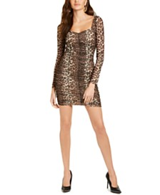 GUESS Juniors' Camouflage-Print Bodycon Dress