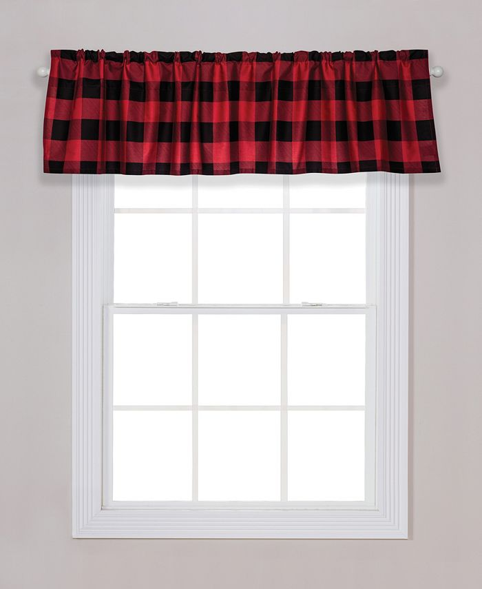 Trend Lab - Red and Black Buffalo Check Window Valance