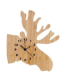 Bamboo Moose Wall Clock