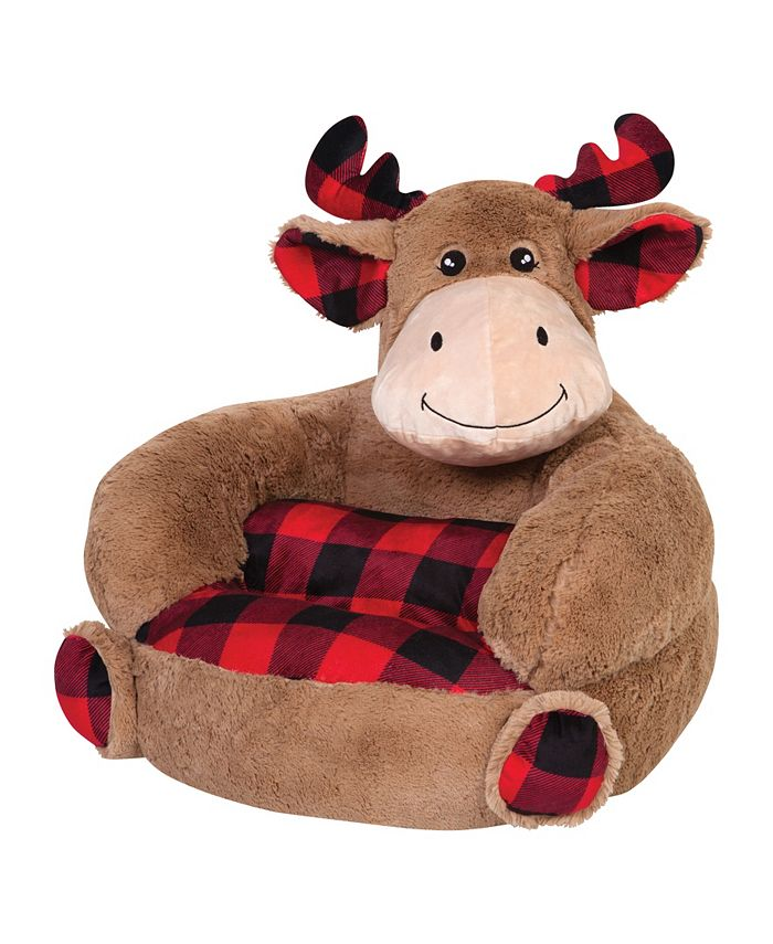 Trend Lab - Children's Plush Buffalo Check Moose Character Chair