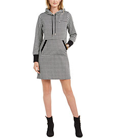 Tommy Hilfiger Houndstooth Hoodie Dress, Created for Macy's