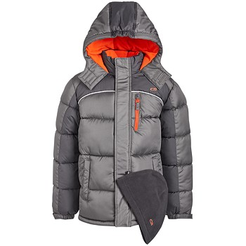 2-Piece CB Sports Kids Puffer Jacket & Hat Set