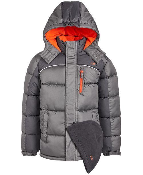 CB Sports Little Boys 2-Pc. Puffer Jacket & Hat Set