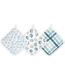 Baby & Toddler Boys 3-Pk. Retro Cotton Washcloths