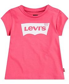 Baby Girls Cotton Logo-Print T-Shirt