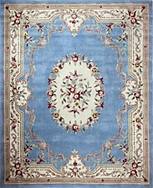CLOSEOUT!  Palace Garden Aubusson Light Blue 5' x 8' Area Rug