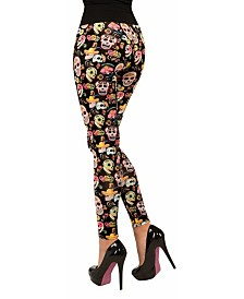 BuySeasons Women's Day of The Dead Leggings
