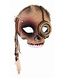 Men's Voodoo Skull Mask with Steampunk Eye