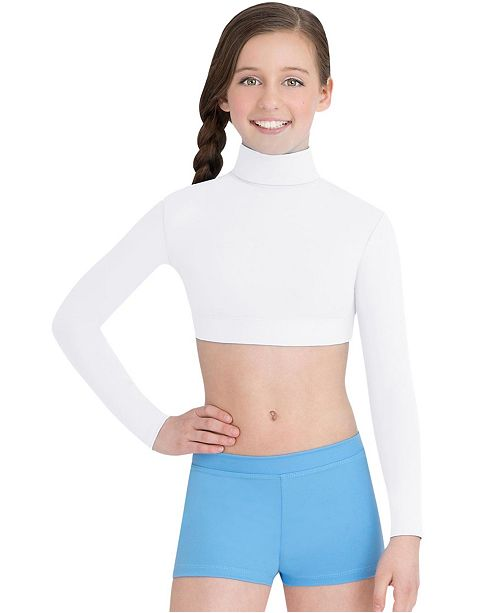Capezio Little and Big Girls Turtleneck Long Sleeve Top