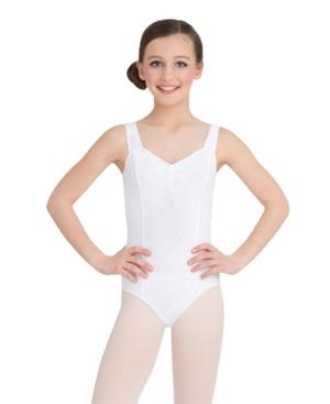 Capezio Kids' Little And Big Girls Tank Leotard In White