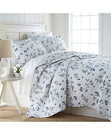 Southshore Fine Linens Forget Me Not Quilt and Sham Set