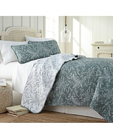 Southshore Fine Linens Winter Brush Lightweight Reversible Quilt and Sham Set