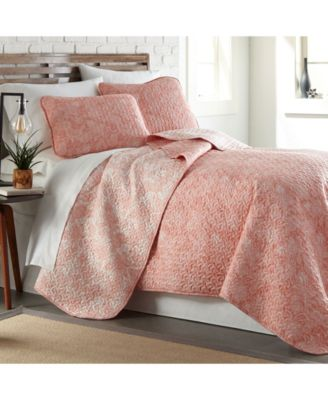 Perfect Paisley Lightweight Reversible Quilt and Sham Set, King/California King