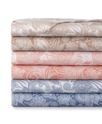 Perfect Paisley deep, Pocket Boho Sheet Set, California King