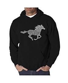 Men's Word Art Hoodie - Mustang