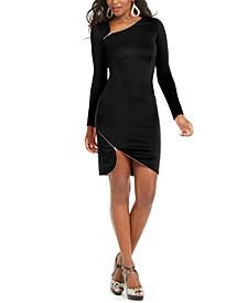Asymmetrical Zipper-Trim Dress, Created For Macy's