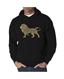 Men's Word Art Hoodie - Lion
