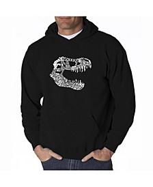 Men's Word Art Hoodie - T-Rex Skull
