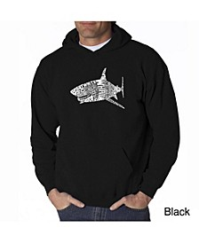 Men's Word Art Hoodie - Shark Species