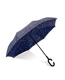 UnbelievaBrella Reversible Dual-Print Umbrella