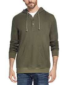 Men's Waffle Knit Thermal Hoodie