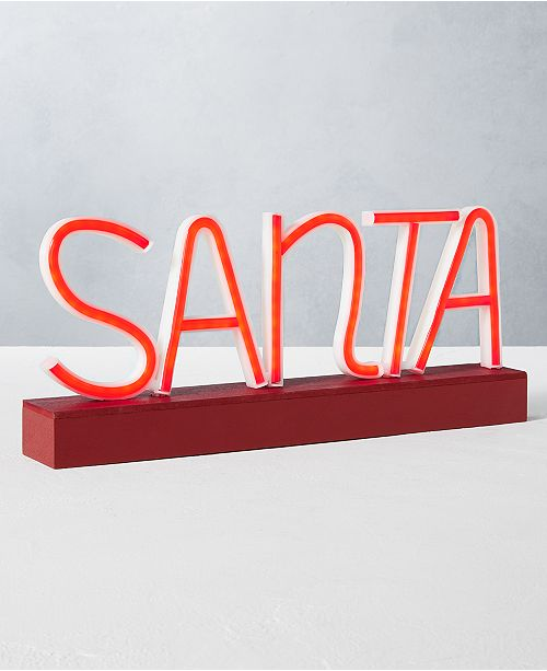 Home Essentials CLOSEOUT! Holiday Santa LED Sign