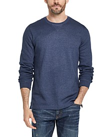 Men's Waffle Knit Long-Sleeve T-Shirt