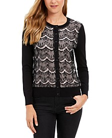 Lace Sequin Button Sweater, Created For Macy's