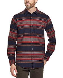 Weatherproof Vintage Men's Brushed Striped Flannel Shirt