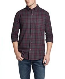 Weatherproof Vintage Men's Brushed Flannel Plaid Shirt