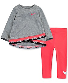 Nike Baby Girls 2-Pc. Logo Tunic & Leggings Set