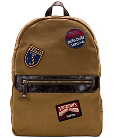 Men's Waxed Canvas Patch Backpack