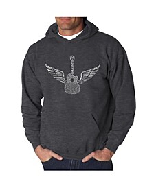 Men's Word Art Hooded Sweatshirt - Amazing Grace