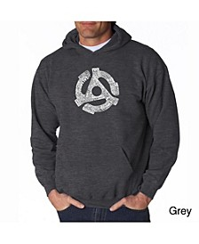 Men's Word Art Hoodie - Record Adapter