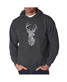 Men's Word Art Hoodie - Types of Deer