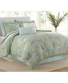 Soho New York Sea Glass 8 Piece Queen Comforter Set