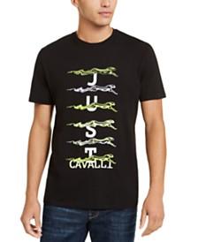 Just Cavalli Men's Running Cheetah Graphic T-Shirt