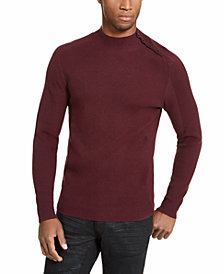 INC Men's Ribbed Button Neck Sweater, Created For Macy's