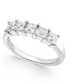 Diamond 5-Stone Band (1 ct. t.w.) in 14k White Gold