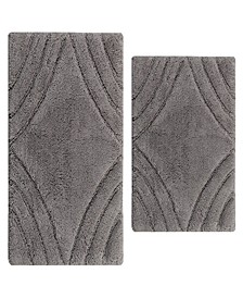 "Diamond 20"" x 30"" and 21"" x 34"" 2-Pc. Bath Rug Set"