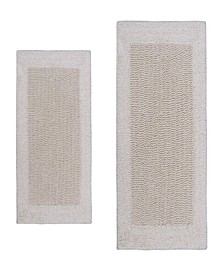 "Bella Napoli 17"" x 24"" and 24"" x 40"" 2-Pc. Bath Rug Set"