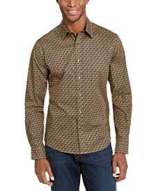 Michael Kors Men's Slim-Fit Stretch Logo Shirt
