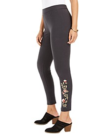 Embroidered Pull-On Leggings, Created for Macy's