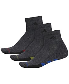 adidas Men's 3-Pk. Cushioned Quarter Socks