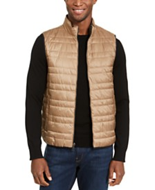 Michael Kors Men's Lightweight Reversible Puffer Vest