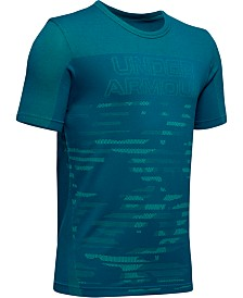 Under Armour Big Boys Colorblocked Seamless Logo-Print T-Shirt