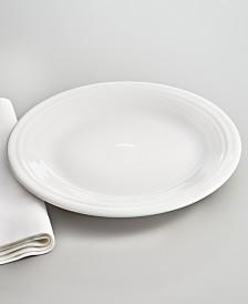 """Fiesta 10.5"""" White Dinner Plate"""
