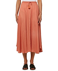Juniors' Samoa Drawstring Midi Skirt